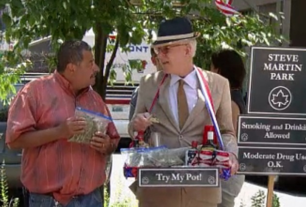 Steve Martin Sells Pot to New Yorker