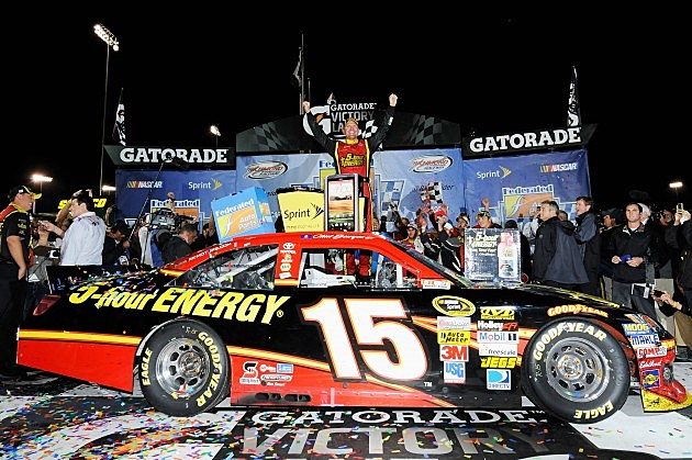 Clint Bowyer celebrates win at Richmond