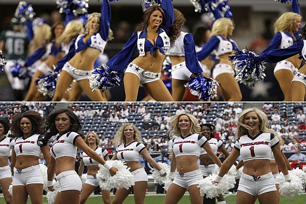 Dallas Cowboys Cheerleaders vs Houston Texans Cheerleaders