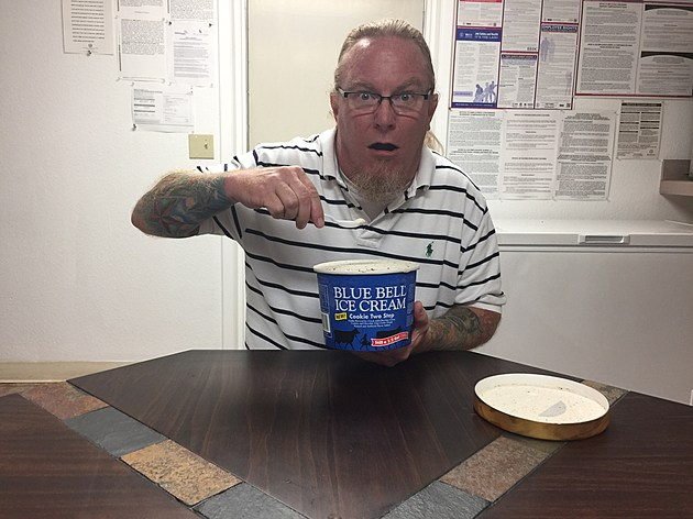 Frank Pain Eating Recalled Blue Bell