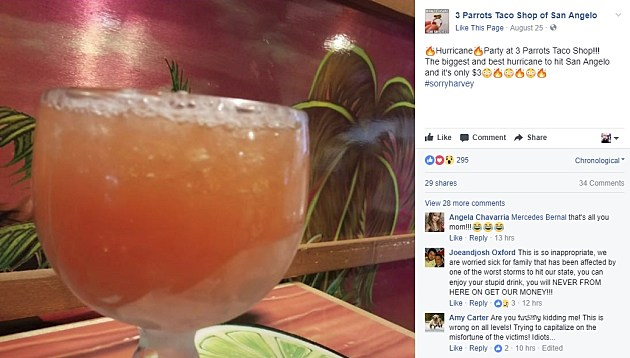 3 Parrots Taco Shop Facebook Page